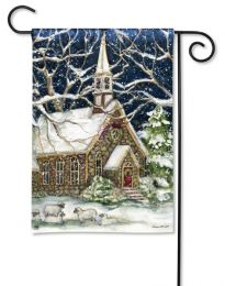 Outdoor Decorative Garden Flag - Village Church