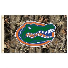Florida Gators 3' x 5' Flag w/Grommets Realtree Camo Background