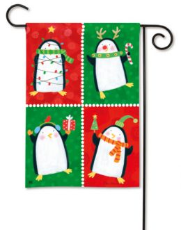 Penguin Pals Christmas Holiday & Seasonal Garden Flag