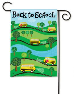 Back to School Fall Season Decorative Garden Flag