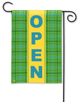 Open Business Decorative Outdoor Garden Flag