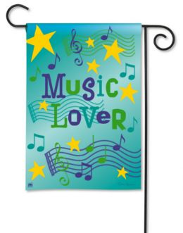 Music Lover BreezeArt SolarSilk Outdoor Decor Garden Flag