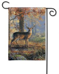 Fall Meadow Outdoor Buck BreezeArt SolarSilk Garden Flag
