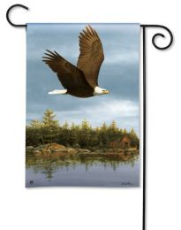 Eagle in Flight Majestic Animal Outdoor SolarSilk Garden Flag