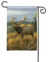 Elk in Meadow BreezeArt Heavy Duty Outdoor Garden Flag