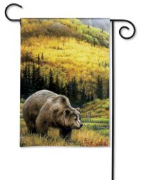 Grizzly Bear Premium BreezeArt Outdoor Garden Flag