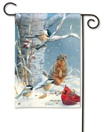 Wild Party Brids, Squirrel & Cardinal Animal Outdoor Garden Flag