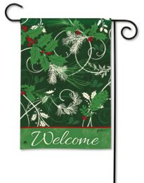 Christmas Scrolls Winter Garden or Double Sided House Flag