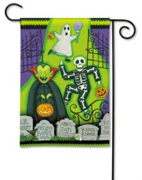 Monster Mash Fall Halloween Seasonal Outdoor Garden Flag