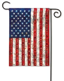 Pledge of Allegiance American Flag Patriotic Outdoor Garden Flag