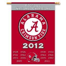 "Alabama Crimson Tide Champ Years 2-Sided 28"" X 40"" Banner"