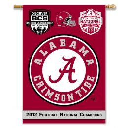 "Alabama Crimson Tide 2-Sided 28"" X 40"" BCS Champs Banner"