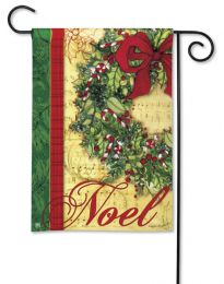 Noel Winter Christmas Holiday Seasonal SolarSilk Garden Flag