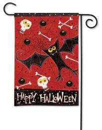 Bats & Bones Halloween Fall Holiday Scary Outdoor Garden Flag