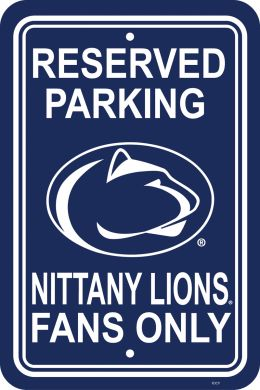 "Penn State Nittany Lions NCAA Logo 12"" X 18"" Plastic Parking Sign"