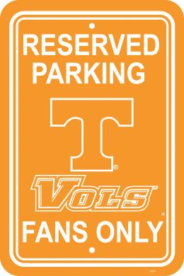 "Tennessee Volunteers 12"" X 18"" Plastic Parking Sign College Logo"