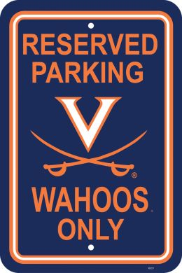 "Virginia Cavaliers 12"" X 18"" Plastic Parking Sign College Team Logo"