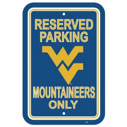 "West Virginia Mountaineers NCAA Logo 12"" X 18"" Plastic Parking Sign"