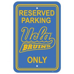 "Ucla Bruins NCAA College Team Logo 12"" X 18"" Plastic Parking Sign"