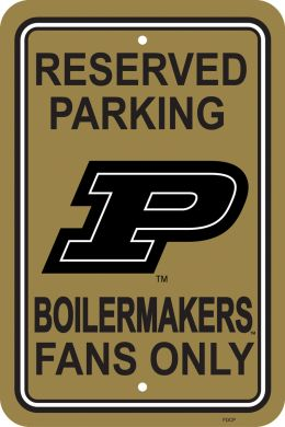 "Purdue Boilermakers 12"" X 18"" Plastic Parking Sign College Logo"