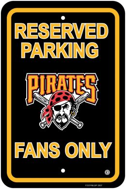 Pittsburgh Pirates MLB Team Logo Plastic Parking Sign