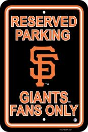 San Francisco Giants Plastic Parking Sign MLB Team Logo
