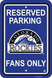 Colorado Rockies Plastic Parking Sign MLB Team Logo Purple & White