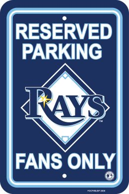 Tampa Bay Rays Plastic Parking Sign MLB Team Logo Blue & White