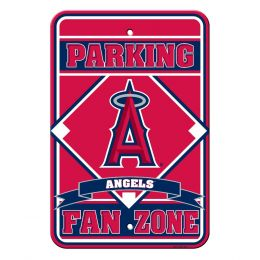 Anaheim Angels Fan Zone Plastic Parking Sign w/ Team Logo