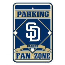 San Diego Padres MLB Team Logo Plastic Parking Sign Blue & White