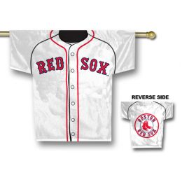 "Boston Red Sox MLB Team Logo Jersey Banner 34"" x 30"" 2-Sided"