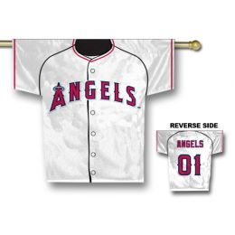 "Anaheim Angels Jersey Shaped 34"" x 30"" 2-Sided House Banner Flag"