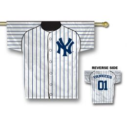 "New York Yankees MLB Team Logo Jersey Banner 34"" x 30"" 2-Sided"