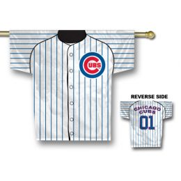 "Chicago Cubs MLB Team Logo Jersey Banner 34"" x 30"" 2-Sided"