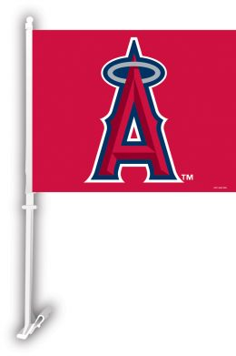 Anaheim Angels MLB Team Logo Car Flag w/Wall Brackett