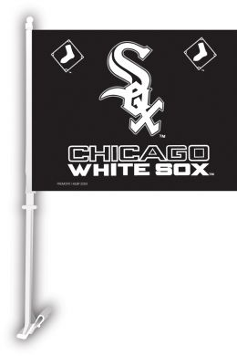 Chicago White Sox Car Flag w/Wall Brackett MLB Team Logo