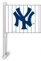 New York Yankees Car Flag w/Wall Brackett MLB Team Logo