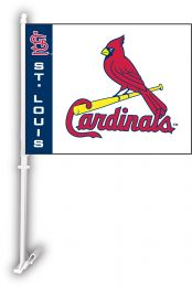 St. Louis Cardinals Car Flag w/Wall Brackett MLB Team Logo