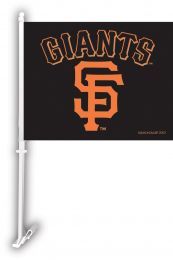 San Francisco Giants MLB Team Logo Car Flag w/Wall Brackett