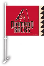 Arizona Diamondbacks MLB Team Logo Car Flag w/Wall Brackett