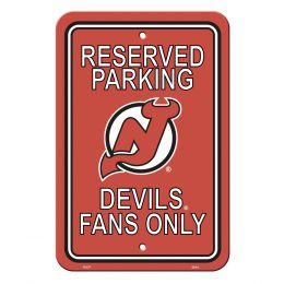 New Jersey Devils Plastic Parking Sign NHL Team Logo Red & White