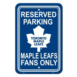 Toronto Maple Leafs NHL Team Logo Plastic Parking Sign