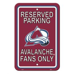 Colorado Avalanche Plastic Parking Sign NHL Team Logo