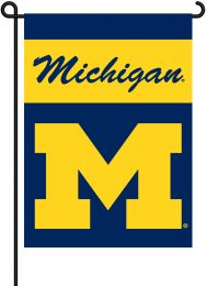 Michigan Wolverines NCAA Team Logo 2-Sided Outdoor Garden Flag
