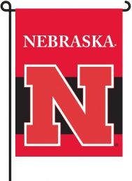 Nebraska Cornhuskers 2-Sided Outdoor Garden Flag NCAA Logo