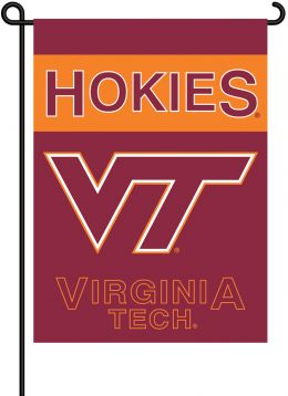 Virginia Tech Hokies 2-Sided Garden Flag College Team Logo