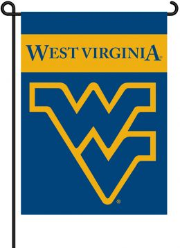 West Virginia Mountaineers College Team Logo 2-Sided Garden Flag