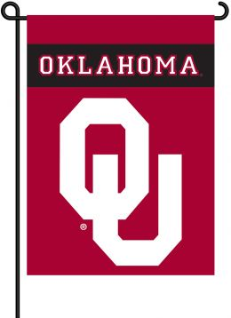 Oklahoma Sooners 2-Sided Outdoor Garden Flag Team Logo