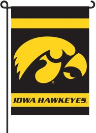 Iowa Hawkeyes 2-Sided Outdoor Garden Flag College Team Logo