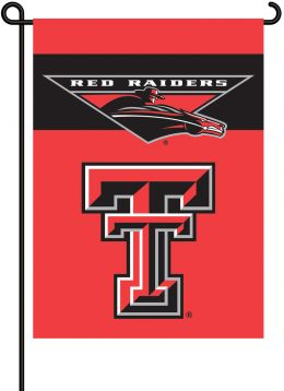 Texas Tech Red Raiders College Team Logo 2-Sided Outdoor Garden Flag